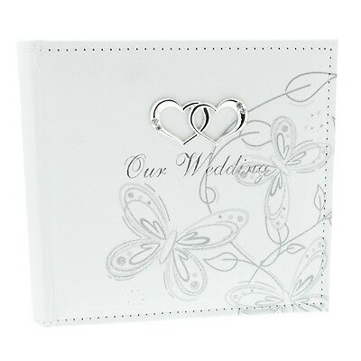 Wedding Album Silver Butterfly Holds 80x 4x 6 Prints