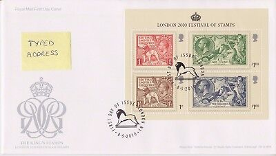 London Pmk Gb Royal Mail Fdc 2010 Festival Of Stamps Seahorse Miniature Sheet