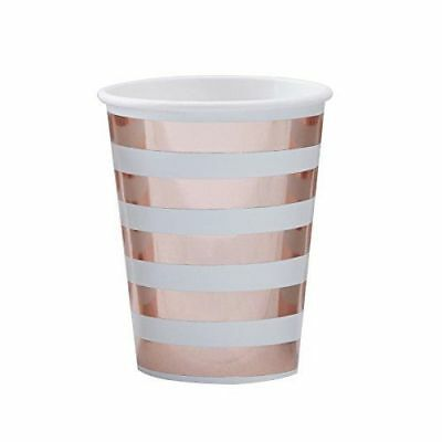 Pappbecher / Partybecher / Einwegbecher in mint & roségold- Inhalt 8 Becher