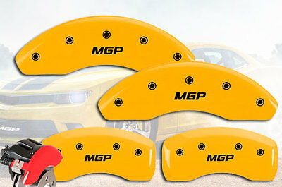 "2017 Fiat 124 Spider Front + Rear Yellow ""MGP"" Brake Disc Caliper Cover STD 4pc"