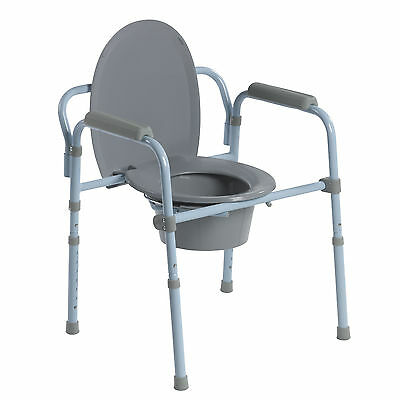 Drive Medical RTL11158KDR Steel Folding Frame Commode