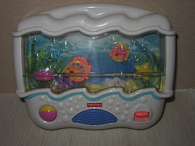 Fisher-Price Ocean Wonders Aquarium Baby Crib Soother Toy Entertainer '02 Music