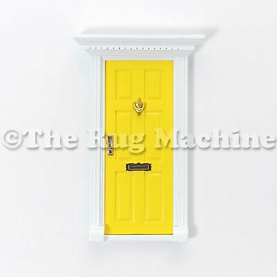MAGICAL FAIRY DOOR - YELLOW Wooden Miniature Doll Size|Aussie Company **NEW**