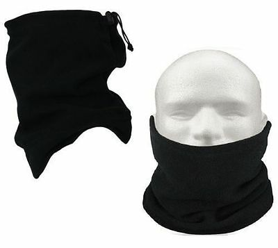 2 Black Fleece Motorcycle Neck Tube Bike Helmet Warmer Thermal Motorbike Scarf