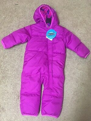 NWT Columbia Infant Girls Ski Bowl Bunting Suit Pink Sz:6-12,12-18, 18-24 Mth