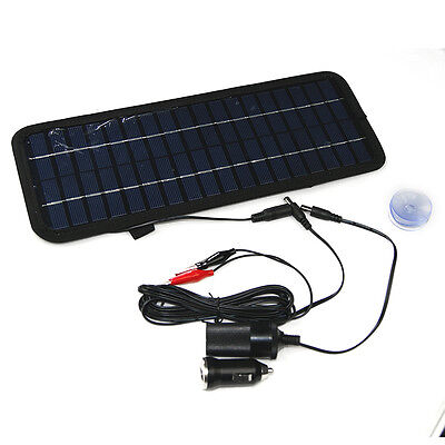 Solar Powered Car Auto Boat Motorcycle 12V Battery Maintainer Trickle Charger TR