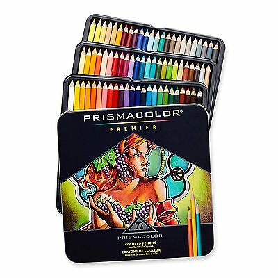 NEW PrismaColor Premier Soft Core 72 Coloured Pencils Tin Box Prismacolour