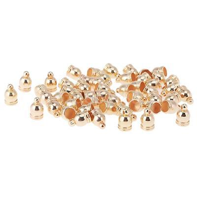 50Pcs Cord End Caps Tassel Caps Hole DIY Accessories Charm Jewelry Findings