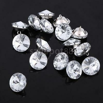 50pcs 25mm Diamante Crystal Satellite Button Upholstery Headboard Chair Sofa