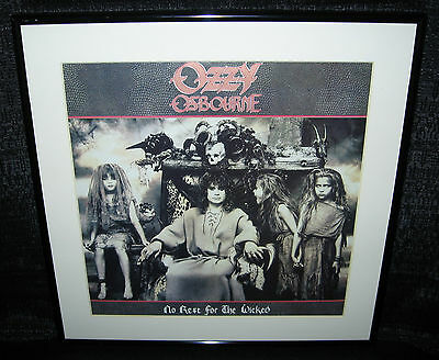 "OZZY OSBOURNE No Rest For The Wicked (Framed 1988 U.S. ""In-Store"" Promo Flat)"