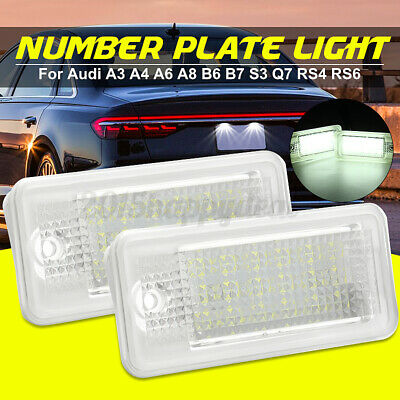 2x LED Canbus License Number Plate Light For Audi A6 C6 S6 A4 S4 B6 B7 A8 S8 A3