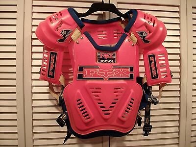 Vintage Fox Racing Chest Protector Roost 2 Hot Pink Rare