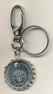 2016 Australian 10cent Coin Key Ring - 50 Years of Decimal Currency  #1010