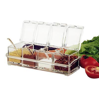 Clear Seasoning Rack Spice Pots Acrylic Seasoning Box Storage Container Jars