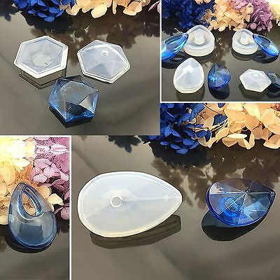 Silicone Pod Mould Mold DIY Resin Necklace Pendant Jewellery Making Tool Craft