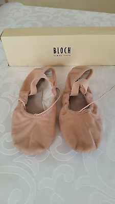 BLOCH Pink Leather Ballet Dance Shoes - Size 1B - Excellent Condition