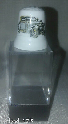 Grey Bently Car Collectable Bone China Thimble - Free Hard Case