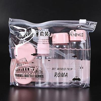 Transparent Shampoo Perfume Container Make Up Cosmetics Travel Bottle Set