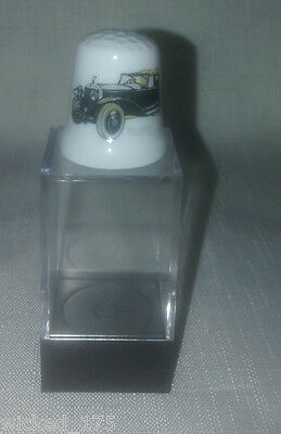 Black Rolls Royce Collectable Bone China Thimble - Free Hard Case