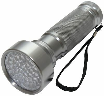 41cm ALUMINIUM Silver Coloured BRIGHT LED Handheld TORCH Light