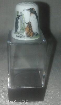 Penguin Collectable Bone China Thimble - Free Hard Case