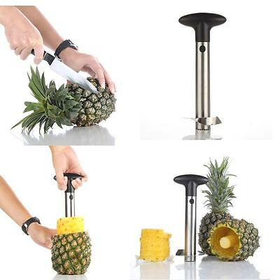 Stainless Steel Kitchen Tool Fruit Pineapple Corer Slicer Cutter Peeler AU STOC