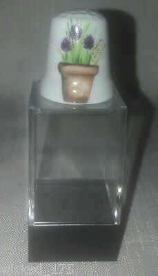 Chives Collectable Bone China Thimble - Free Hard Case