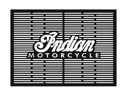 Indian motorcycle barbecue logo, Dxf files for laser cut