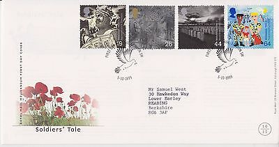 Gb Royal Mail Fdc First Day Cover 1999 Soldiers' Tale Stamp Set London Pmk