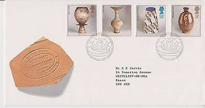 Gb Royal Mail Fdc First Day Cover 1987 Studio Pottery Stamp Set Bureau Pmk
