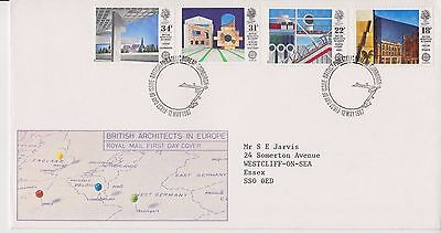 Gb Royal Mail Fdc First Day Cover 1987 British Architects Stamp Set Bureau Pmk