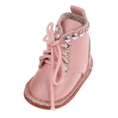 Pair of Pink PU Leather Martin Boots for 12'' Blythe Doll Clothes Dress Up