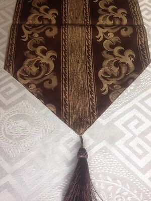 Table Runners X 2, Brown, with detachable tassels (NEW)