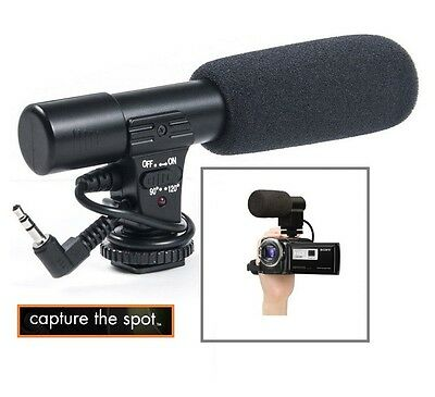 Mini Condenser Professional Microphone For Sony FDR-AX100 HDR-CX900