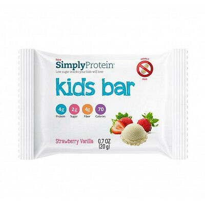 SimplyProtein Kids Bar - Strawberry Vanilla - .7 oz - Case of 12