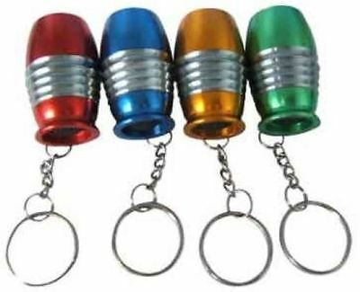 1 x Mini BULLET Shaped TORCH on KEYRING, 1 colour selected at random!