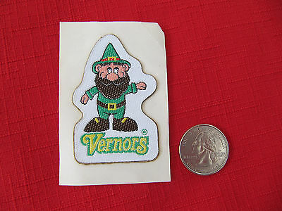 Vintage Original Embroidered Gnome Vernor's Patch~Moc