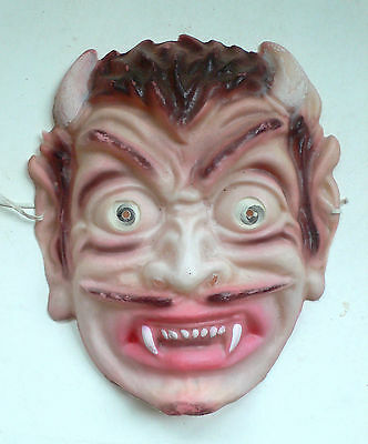 Vintage Count DRACULA Halloween mask with flicker eyes 1960's