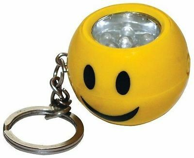 1 x SMILEY Face EMOJI Light up Led TORCH Keyring