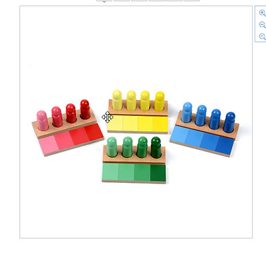 New Learning Math Toy Montessori Color Resemblance Sorting Task Wood Early Child