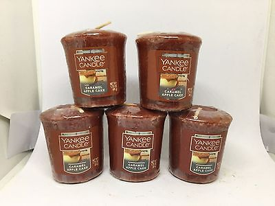 Yankee Candle 5x Caramel Apple Cake 49g Votives USA EXCLUSIVE VERY RARE