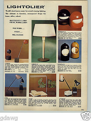 1971 PAPER AD Lightolier Lamp Lights Interplay I II Lytegem Baton Lytebeam
