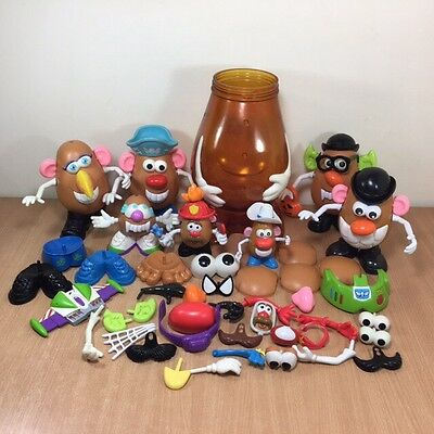 Large Mr Potato Head Bundle Storage Tub x 7 Halloween Fire & Rescue Disney