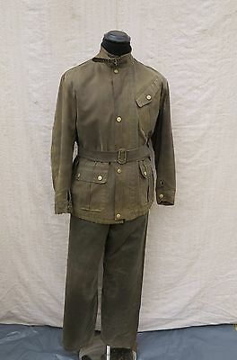 Vtg Bell Motor Coat 30's Waxed Jacket Vtg Bell Motorcycle Jacket Vtg Waxed Suit