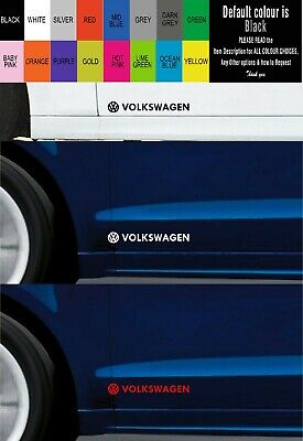 For VW VOLKSWAGEN 2 X DOOR CAR DECAL STICKER -  Fits GOLF POLO etc - 300mm long