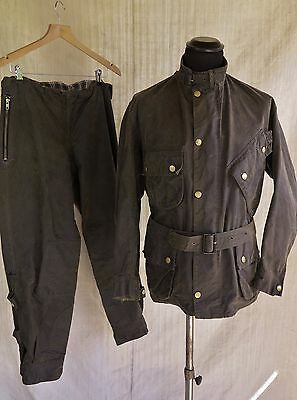 Wax Jacket Vtg Barbour Waxed Jacket & Pants Nato Vtg Barbour International Suit