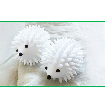 New Portable White Hedgehog Dryer Balls Reusable Laundry Drying Softener Clothes