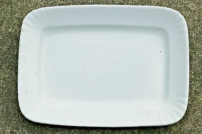 "Large Powell & Bishop White Ironstone 14"" Rectangle Chelsea Serving Platter 1891"