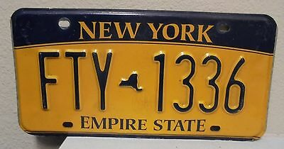 2012 New York  Empire State Gold License Plate Fty 1336 Used