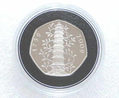 2009 Royal Mint Kew Gardens 250th Anniversary Pagoda 50p Fifty Pence Proof Coin